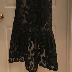 cf8499a886a9 J.Crew Dresses | Jcrew Flutterhem Dress In Burnout Velvet Leopard ...